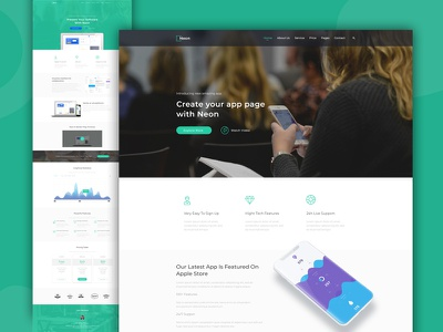 IT Startup and Technology Web Template Design technology tech startup software it innovative innovation digital corporate business agency ui