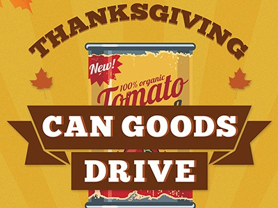 Can Goods Drive food drive thanksgiving poster school fall