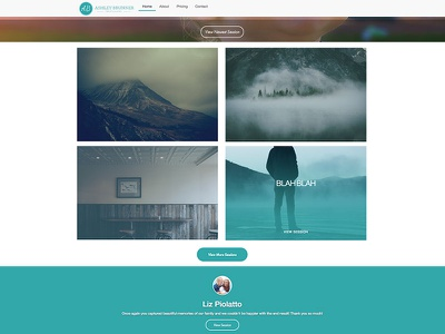 Ashley Brunner Photography website photography wip wordpress