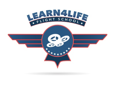 Flight School drone los angeles logo education learn4life