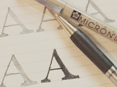 A hand lettering micron lettering learn lettering