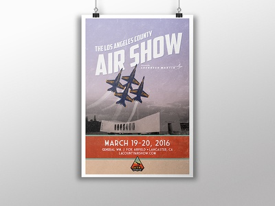 Los Angeles County Air Show los angeles antelope valley poster blue angels air show