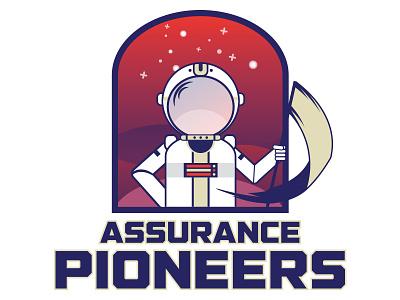 Assurance Mascot education mascot astronaut space school