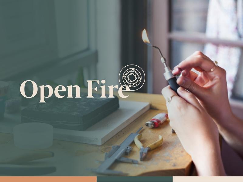 Open Fire | Branding branding open jewellery vector logo design