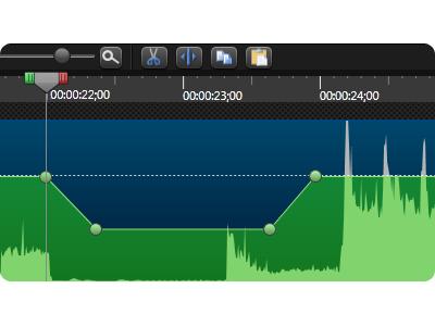 Audio Editing app ui