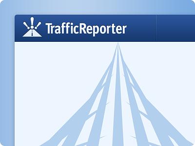 Traffic Reporter Concept traffic logo web app