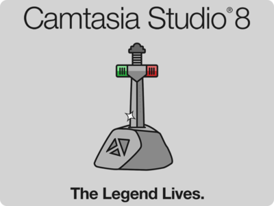 CS8 Release Shirt camtasia shirt sword playhead sword in stone play head