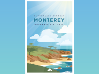 Monterey Retreat Poster