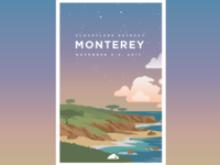 Monterey Retreat Poster (Sunrise)