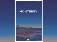 Monterey Retreat Poster (Night)