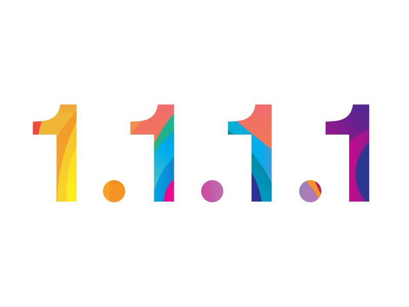 1.1.1.1 rainbow colorful lava blobs resolver ip dns one 1