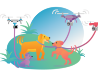 Dogs and drones