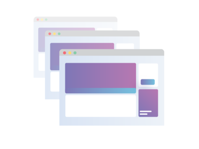 Replicate Content duplicate fade transparent replicate page web