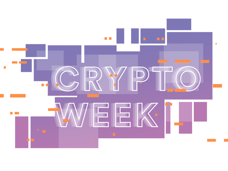Crypto Week scatter typography transfer data encryption cryptography crypto