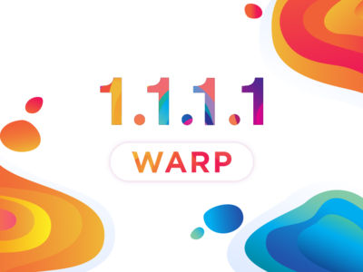 1.1.1.1 with Warp colorful mobile app dns warp dot one 1 lava lamp lava blobs rainbow