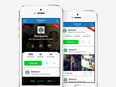 Placeley - Place Landing Screen & Feed ui ux social app iphone mobile feed data message ios7 places