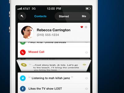 Mobile App Concept mobile app ui iphone contact list concept user interface ux