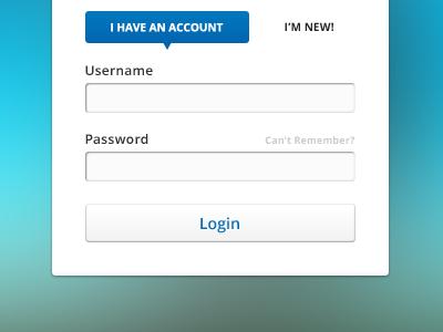 Login Component ui design user interface login form ux clean corporate