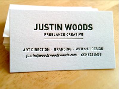 Business Cards branding business card letterpress