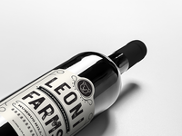 Leoni Farms Red Blend Label
