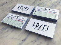 Lo Fi Business Cards