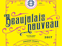Beaujolais Nouveau Label–In Progress
