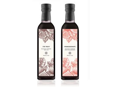 Bella Grace Balsamic Vinegar Label illustration vinegar label packaging