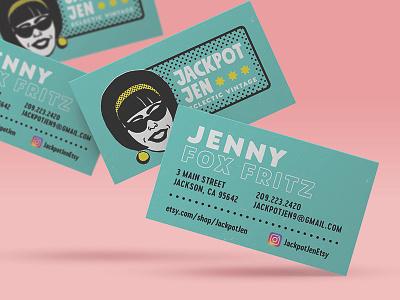 Jackpotjen Business Cards business card design comic retro logo branding
