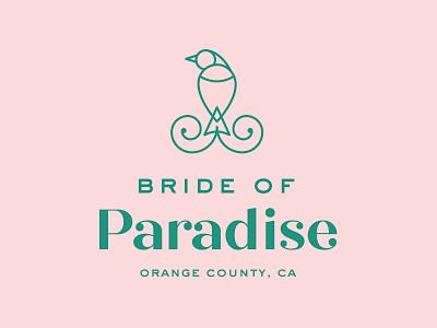 Bride of Paradise Reject A wedding bridal bird logo branding