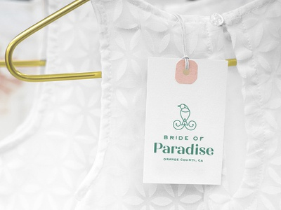 Bride of Paradise Reject Tag hang tag clothing logo branding label