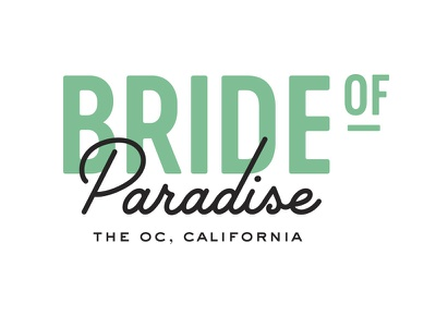 Bride of Paradise Reject B boutique bridal typography logo branding
