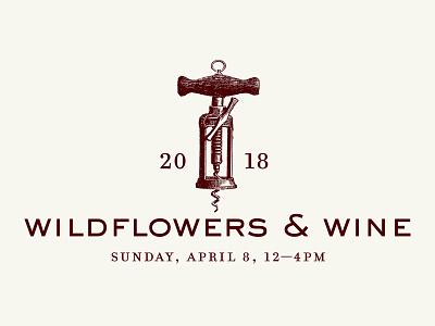 Wildflowers & Wind Logo wine winery logo illustration sierra nevada foothills branding label