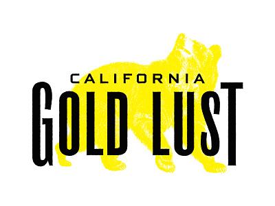 Gold Lust Logo label branding typography wine logo gold rush sierra nevada foothills illustration winery wine label