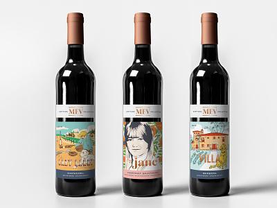 MFV Heritage Collection branding sierra nevada illustration winery wine label label