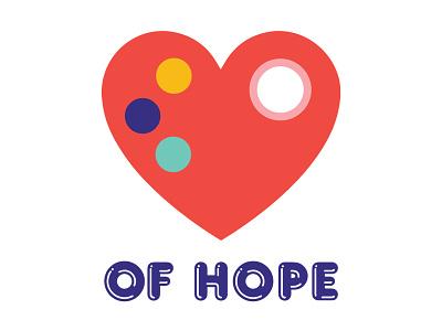 Heart of Hope Logo identity branding mentalhealth art heart illustration logo branding