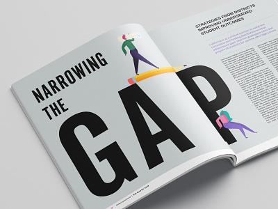 California School Board Association Fall Spread Alt magazine layout design school education editorial editorial illustration