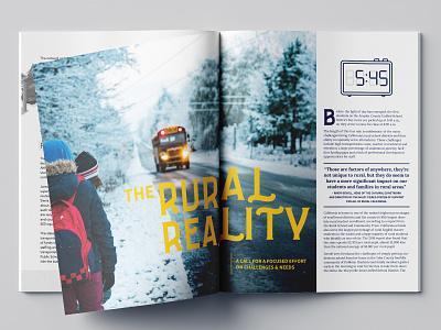 California School Board Association Spring Spread magazine design layout education editorial design editorial