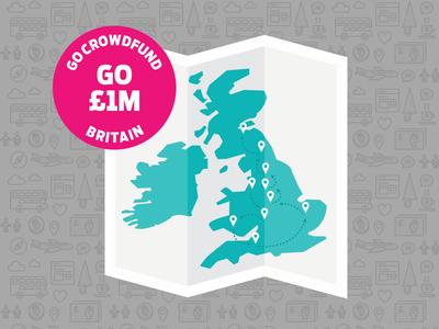 Go Crowdfund Britain indiegogo map crowdfund uk britain england