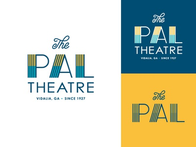 The Pal Theatre typography logo art deco 20s georgia vidalia theatre theater pal