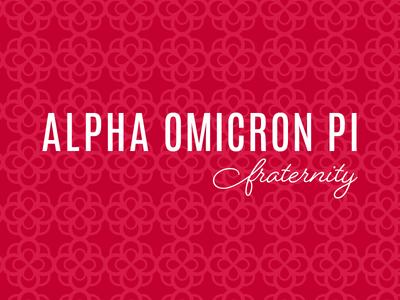 Alpha Omicron Pi typography inspire greek fraternity sorority pattern rose brand logo