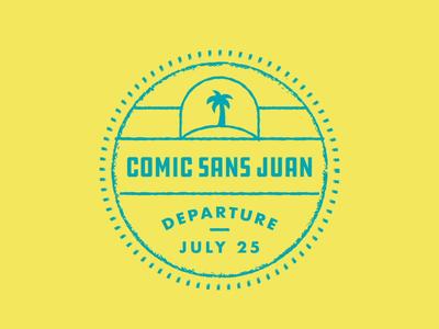 Passport Puns atlanta meetup typography fonts travel badge illustration design type pun stamp passport