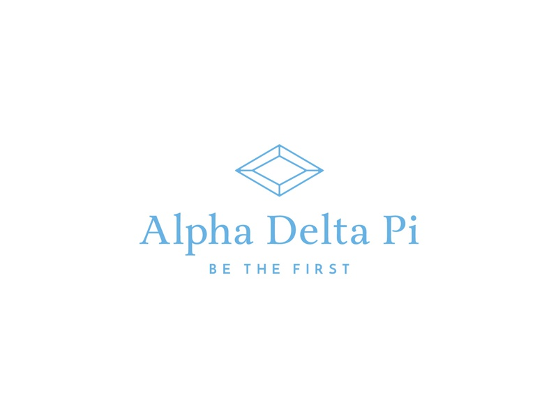 Alpha Delta Pi typography symbol sorority rebrand pattern logomark logo identity greek first diamond branding badge blue azure alpha delta pi adpi