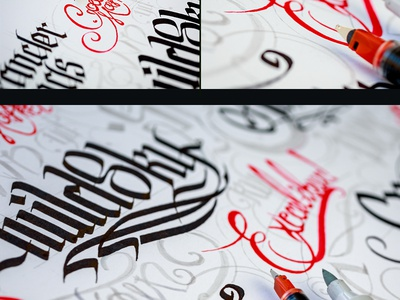 Lettering paper logotype texture logo photo ink pilot calligraphy typography symbol lettering sketch pen type font line