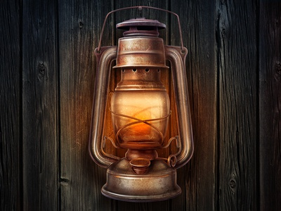 Lamp old illustration rusty wood texture metal vintage glass shine glow lamp fire scratch night