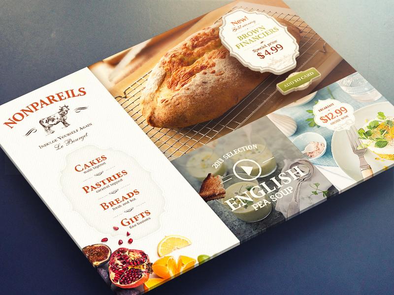 Bakery ios ui app ipad ux food texture font typography logotype fruit paper
