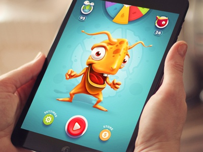iOS Game background iphone ipad game sketch design ui button character menu illustration