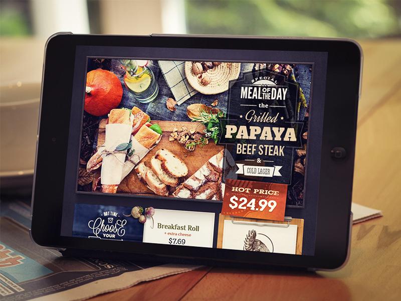 Restaurant ui kit web menu ipad badge design restaurant food font typography glyph