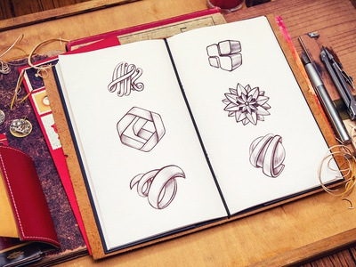 Logotypes logotype logo sketch wood identity pencil typography notepad id flower mail letter