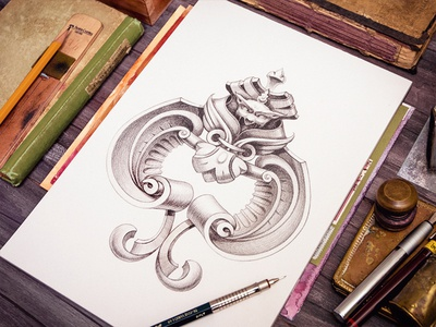Ace Of Spades sketch wood pencil pen ink card ace game metal book