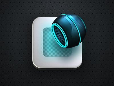 TRON: Mobile ver. tron button ui icon iphone ipad metall texture game app